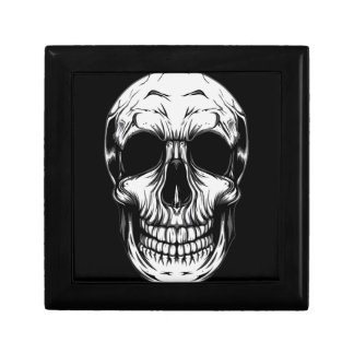 "SKULL Small 5.125"" Square w/4.25"" GIFT BOX"