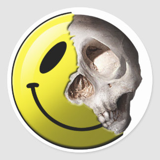 Skull smiley stickers