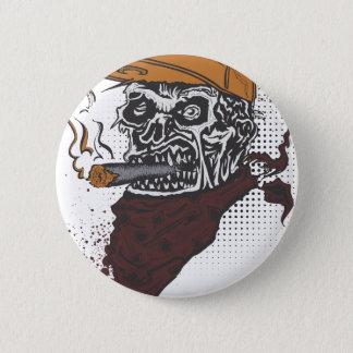Skull Smoking 2 Inch Round Button