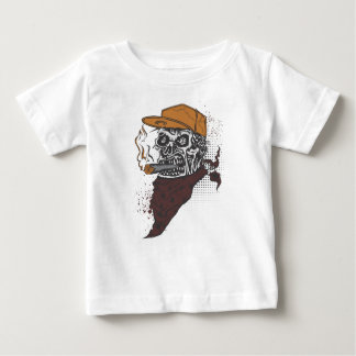 Skull Smoking Baby T-Shirt