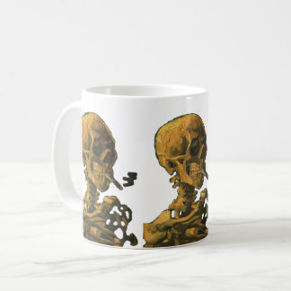 Skull Smoking Cigarette Coffee Mug