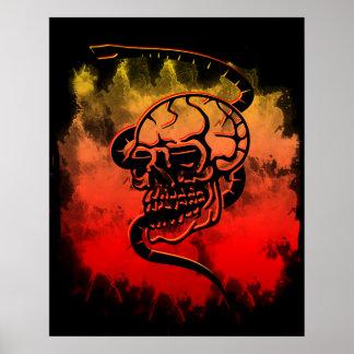 skull snake poster