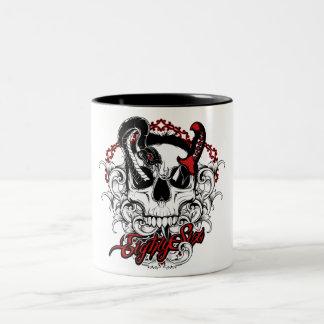 Skull Snake Two-Tone Coffee Mug