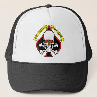 Skull Spade Death Is Certain Life Is Not Trucker Hat