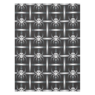 Skull spider pattern tablecloth