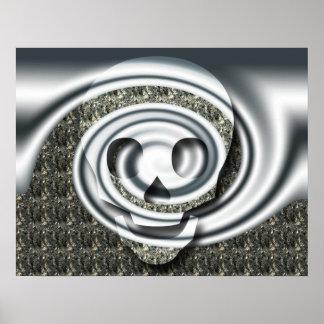 Skull spiral poster