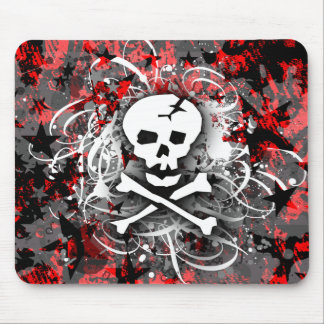 Skull Splatter Mouse Pad