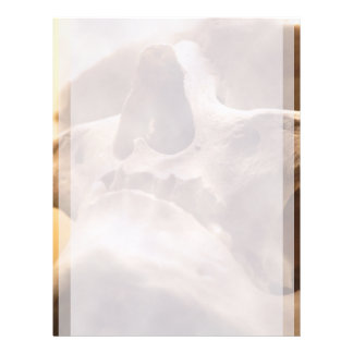 Skull Spooky Halloween Classy Human Skull Design Letterhead