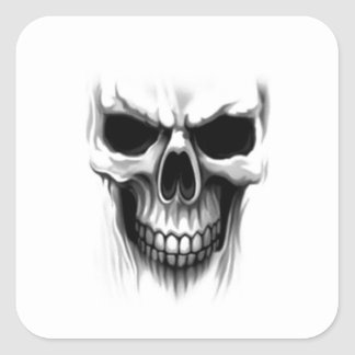 Skull Square Sticker