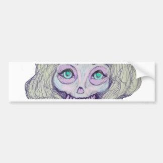 skull sugar pastel -her26- bumper sticker