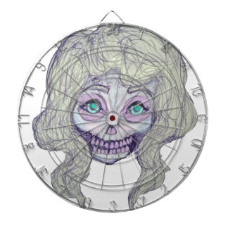 skull sugar pastel -her26- dartboard with darts