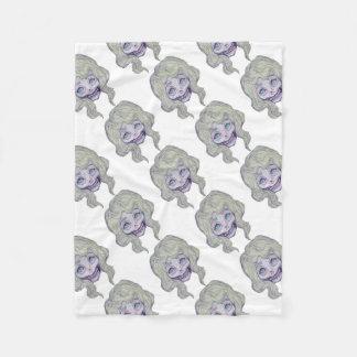 skull sugar pastel -her26- fleece blanket