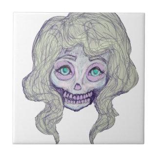 skull sugar pastel -her26- tile