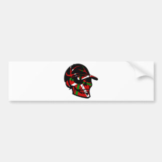 Skull surfer Basque Bumper Sticker