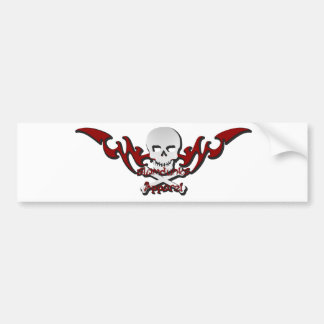 Skull tattoo bumper sticker