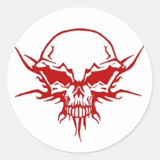 Skull Tattoo Classic Round Sticker