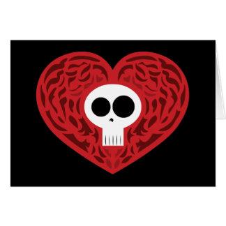 Skull Tattoo Heart Greeting Card