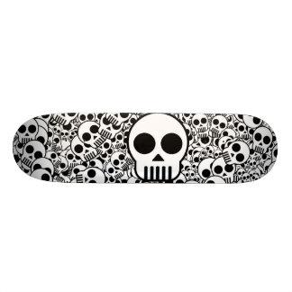 Skull Texture Black White Surface Custom Skateboard