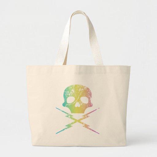 Skull Thunder Split Banana Canvas Bags