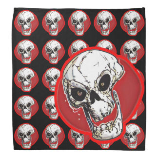 skull tiled pattern with big skull combination do-rags