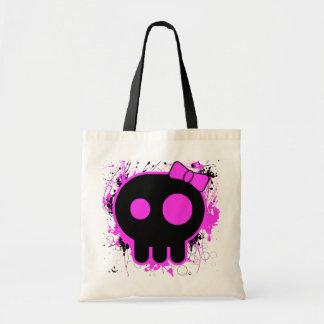 Skull Tote Splatter Canvas Bag
