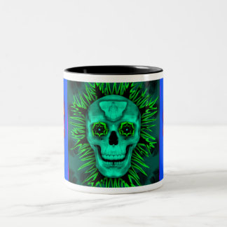 Skull Triptastic Two-Tone Coffee Mug