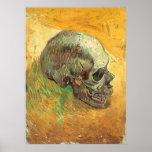 Skull, Vincent van Gogh, Vintage Impressionism Art Poster