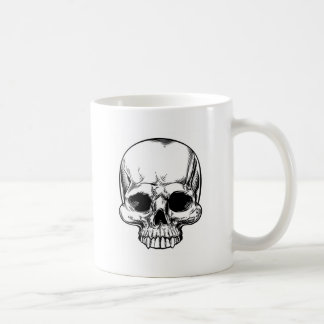 Skull Vintage Retro Woodcut Etched Engraved Style Coffee Mug
