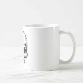 Skull Vintage Retro Woodcut Etched Engraved Style Coffee Mug