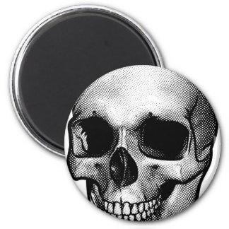 Skull Vintage Style Drawing Magnet