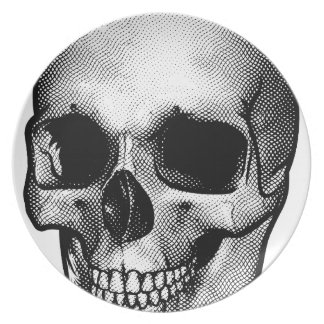 Skull Vintage Style Drawing Plate