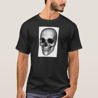 Skull Vintage Style Drawing T-Shirt