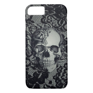 Skull w/Lace iPhone 8/7, Barely There Phone Case