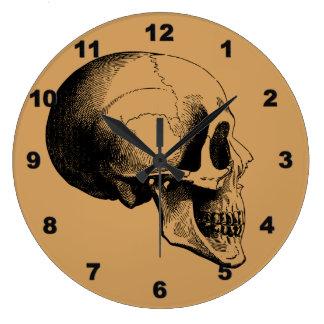 Skull Wall Clock,Tan Wallclock