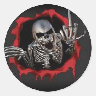 Skull Way Classic Round Sticker