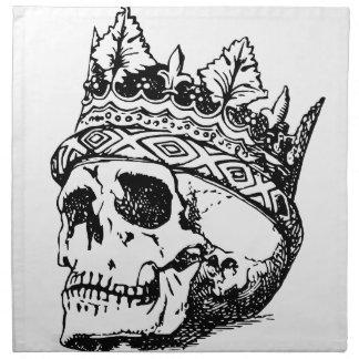 Skull Wearing Crown, King Napkin