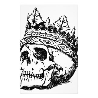 Skull Wearing Crown, King Stationery Paper