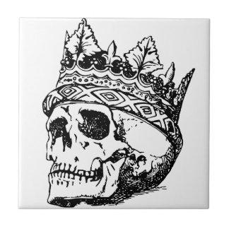 Skull Wearing Crown, King Tile