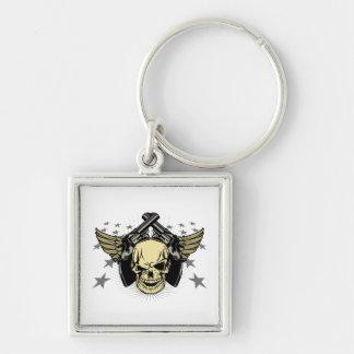 Skull Wings Guns Stars Key Chain