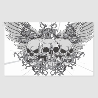 Skull Wings Sticker
