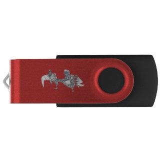 Skull-witch-pen-drivw USB Flash Drive
