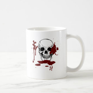 Skull with blood coffee mug