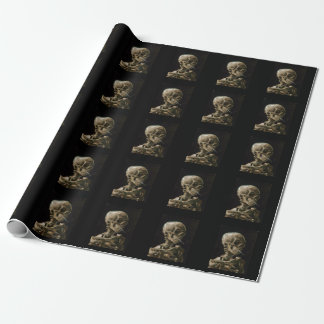 Skull with Burning Cigarette Vincent van Gogh Art Wrapping Paper