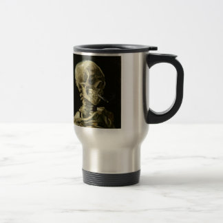 Skull with Cigarette by Van Gogh 15 Oz Stainless Steel Travel Mug