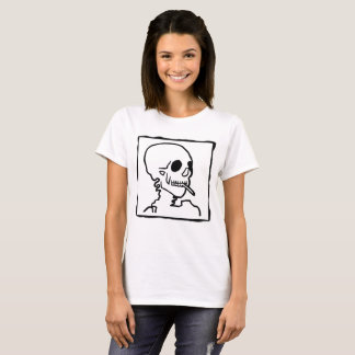 Skull with Cigarette Stencil Shirt