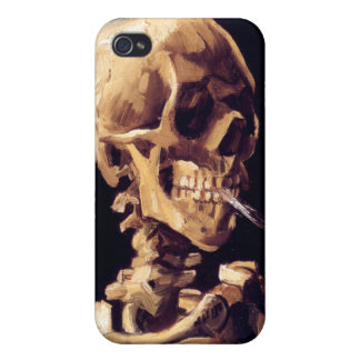 Skull With Cigarette, Van Gogh Cases For iPhone 4