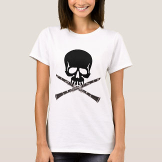 Skull with Clarinets and Crossbones T-Shirt