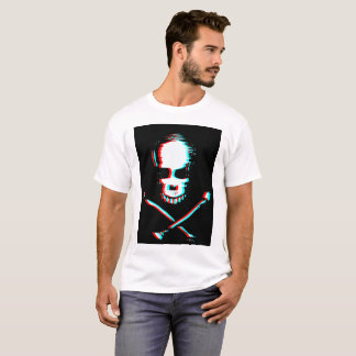 Skull with color separation effect T-Shirt