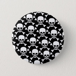 skull with crossbones design 2 inch round button