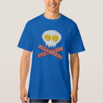 Skull With Crossed Bacon  Skull Bacon Eggs T Shirt